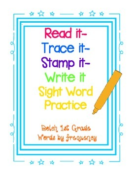 Dolch First Grade Sight Word Practice
