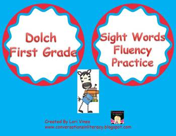 Dolch First Grade Sight Word Practice for Fluency