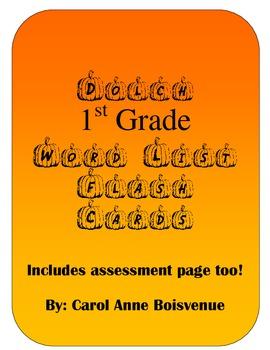 Dolch First Grade Sight Word Pumpkin Flash Cards Halloween