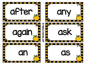 Dolch First Grade Sight Words