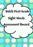 First Grade Sight Words Assessment Record