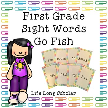 Dolch First Grade Sight Words Go Fish Review Game