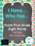 Dolch First Grade Sight Words I Have... Who Has...