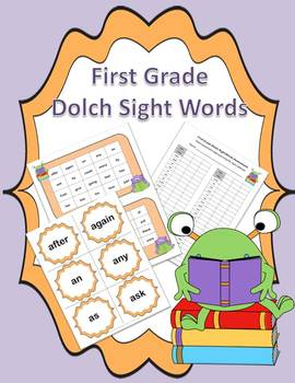 Dolch First Grade Sight Words Practice and Assessment