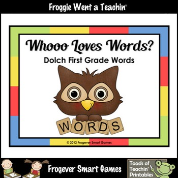 "Dolch First Grade Sight Words--Read, Build, Trace, Write ""Whooo Loves Words?"""