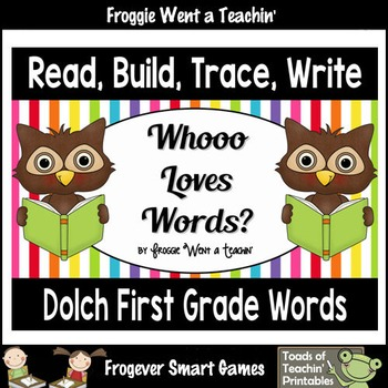 """Dolch First Grade Sight Words--Read, Build, Trace, Write """""""