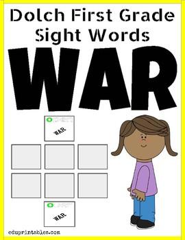 Dolch First Grade Sight Words War