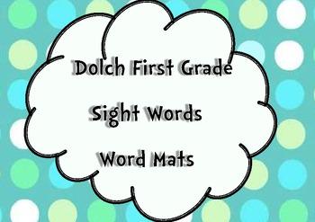First Grade Sight Words Word Mats