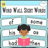 Dolch First Grade Sight Words Word Wall Cards