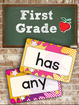 """Dolch First Grade Super Hero Word Cards – 4"""" x 6"""" – Vector PDF"""
