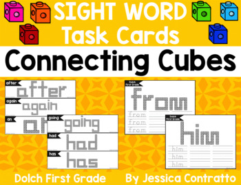 Dolch First Grade Task Cards: Connecting Cubes