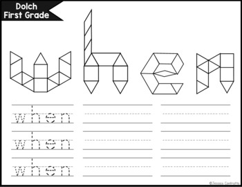 Dolch First Grade Task Cards: Pattern Blocks