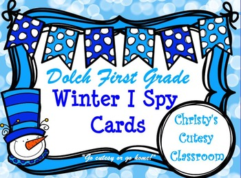 Dolch First Grade Winter I Spy Cards