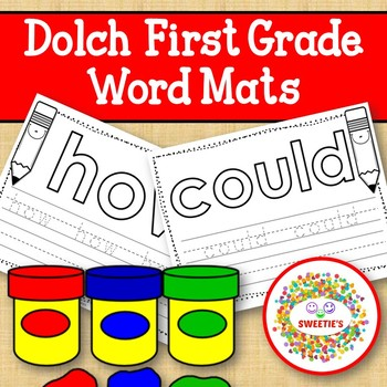 Dolch First Grade Word Mats - Build and Write -  Black and White