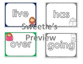 Dolch First Grade Word Mats  /  Color and Black & White  with Reading Kids