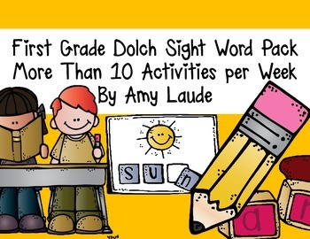 Dolch First Grade Words- At least nine activities for each set of words