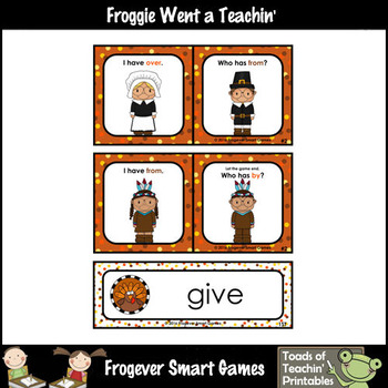 """Dolch First Grade Words I Have... Who Has? """"Happy Thanksgiving"""""""