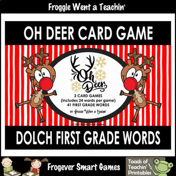 """Dolch First Grade Words -- """"Oh Deer"""" Card Game"""
