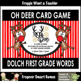 "Dolch First Grade Words -- ""Oh Deer"" Card Game"