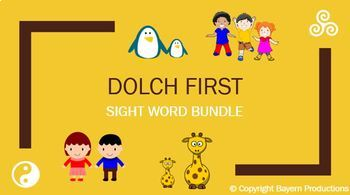 Dolch First Sight Words - 10 PPTs - Sentences Meanings Quizzes Games & Review
