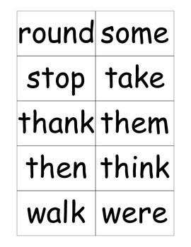 Dolch First Sight Word Flashcards