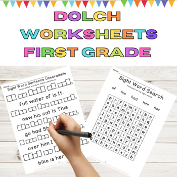 Dolch 1st Grade High Frequency Words 9 Weeks of Sight Word Work