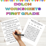 Dolch Sight Word Worksheets:  First Grade High Frequency Words 9 Weeks of Work