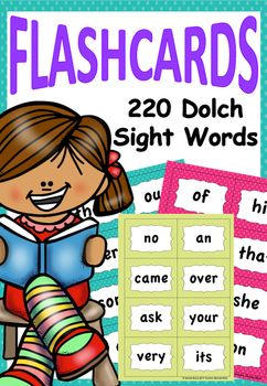 Dolch Sight Words Spotted Flashcards