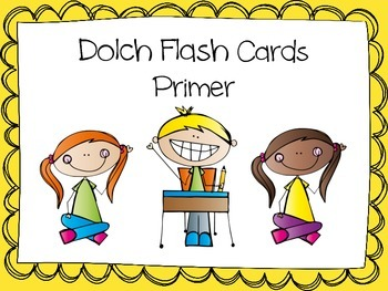Dolch Word Flash Cards