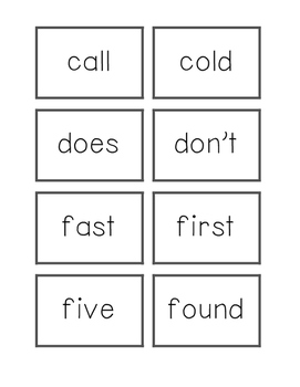 Dolch Flashcards Grade 2 Words