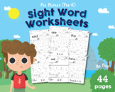 Dolch & Fry Combined Sight Word Worksheets (Pre-Primer Edi