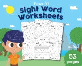Dolch & Fry Combined Sight Word Worksheets (Primer Edition