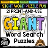 Dolch GIANT Word Search Puzzles