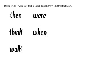 Dolch Grade 1 sight words