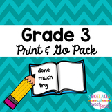 Dolch Sight Word Tool Grade 3 Print & Go Assessment and Pr