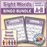 Dolch Grade 3 Sight Words Bingo: Digital & Print - Two Games for Small Groups