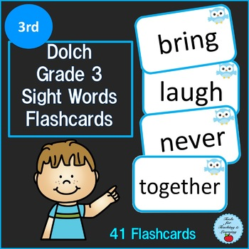 Dolch Grade 3 Sight Words Flashcards
