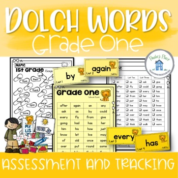 Dolch Sight Word Assessment and Tracking Grade One