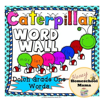 Dolch Grade One Sight Words Ceterpillar Themed Word Wall