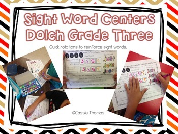 Dolch Grade Three Sight Word Centers