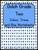 Dolch Grade Two Colour and Trace Practice Worksheets