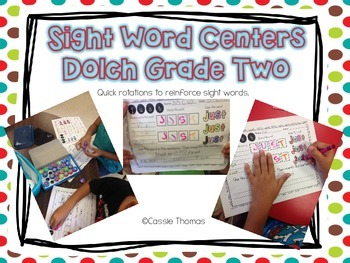 Dolch Grade Two Sight Word Centers