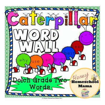 Dolch Grade Two Sight Words Caterpillar Word Wall