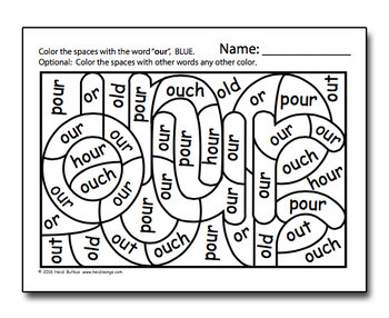 Dolch Hidden Sight Word Worksheets - Primer