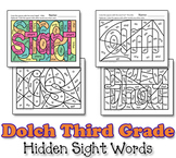 Dolch Hidden Sight Word Worksheets - Third Grade