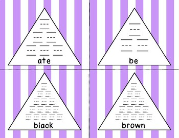Dolch Kindergarten Pyramid Writing Practice