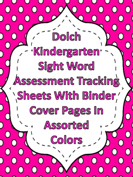 Dolch Dot Kindergarten Sight Word High Frequency Words Tracking System