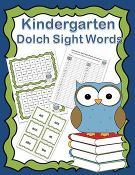 Dolch Kindergarten Sight Words Practice and Assessment