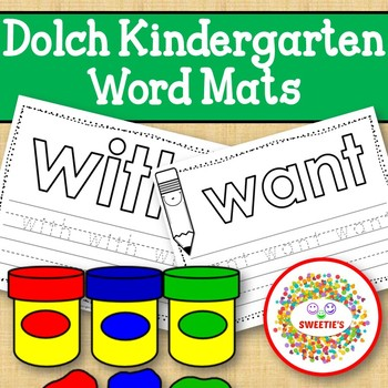 Dolch Kindergarten Word Mats - Build and Write -  Black and White