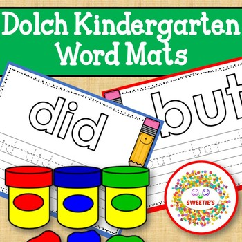 Dolch Kindergarten Word Mats - Build and Write -  Color